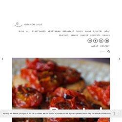Roasted Cherry Tomato Bruschetta with Balsamic Glaze