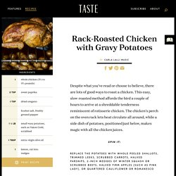 Rack-Roasted Chicken with Gravy Potatoes