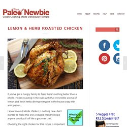 Lemon & Herb Roasted Chicken Recipe