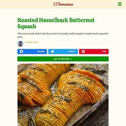 Roasted Hasselback Butternut Squash