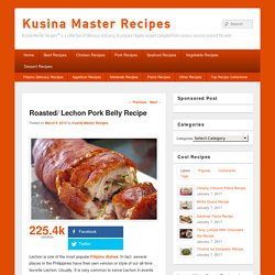 Roasted/ Lechon Pork Belly Recipe - Kusina Master Recipes