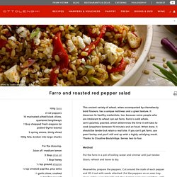 Farro and roasted red pepper salad I Ottolenghi recipes