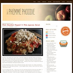 Fire Roasted Pepper & Feta Quinoa Salad | La Phemme Phoodie