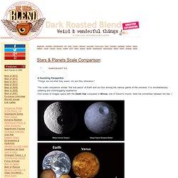 Stars & Planets Scale Comparison