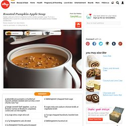 Roasted Pumpkin-Apple Soup -EW