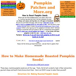 How to make roasted pumpkin seeds - in easy illustrated steps