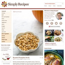 Roasted Pumpkin Seeds Recipe, Toasted Pumpkin Seeds Recipe