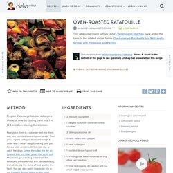 Oven-roasted Ratatouille