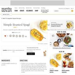 Simple Roasted Spaghetti Squash Recipe Recipe