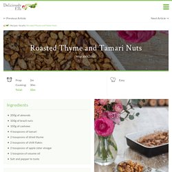 Roasted Thyme and Tamari Nuts