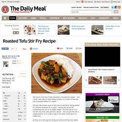 Roasted Tofu Stir Fry Recipe