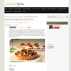 Roasted Vegetable Pesto Tart - Simple Easy to Cook Recipe by Archana's Kitchen