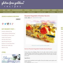 Roasted Vegetable Cheddar Quiche