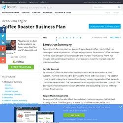 Coffee Roaster Business Plan Sample