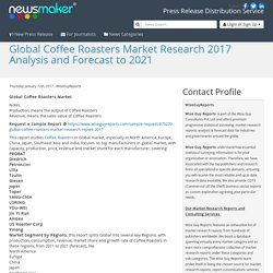 Global Coffee Roasters Market Research 2017 Analysis and Forecast to 2021