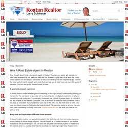 Hire A Real Estate Agent In Roatan