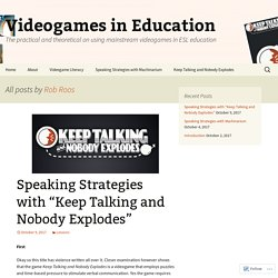Videogames in Education