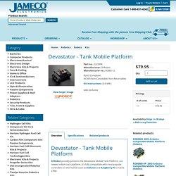 ROB0112: Devastator -Tank Mobile Platform Working Voltage: 3V -8V DC (Kits): DFRobot