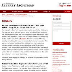 New York Robbery Lawyers Jeffrey Lichtman