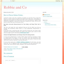 Robbie and Co: How to Choose Online Clothes