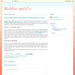 Robbie and Co: Easily Buy Online Jeans Skirt for Finding Better Looks