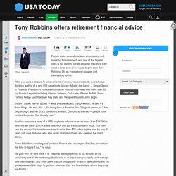 Tony Robbins offers retirement financial advice