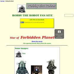 ROBBY THE ROBOT FAN SITE