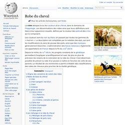 Robe du cheval