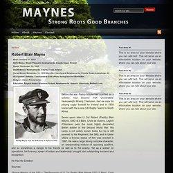 Robert Blair Mayne : Maynes.org