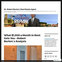 What $1,000 a Month in Rent Gets You – Robert Burton`s Analysis – Dr. Robert Burton