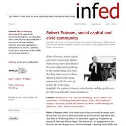 Robert Putnam, social capital and civic community