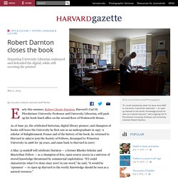Robert Darnton closes the book