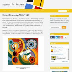 Robert Delaunay on Abstract Art Framed