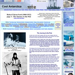 Robert Falcon Scott - the journey to the pole