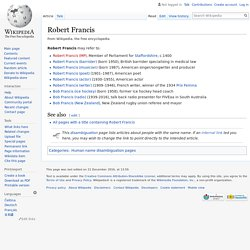 Robert Francis - Wikipedia