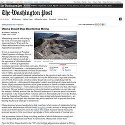Robert F. Kennedy Jr. - Obama Should Stop Mountaintop Mining