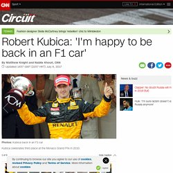 Robert Kubica: 'I'm happy to be back in an F1 car'