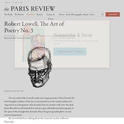 Robert Lowell, The Art of Poetry No. 3