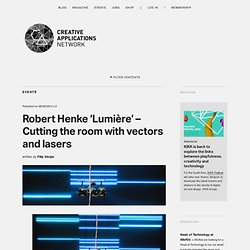 Robert Henke 'Lumière' - Cutting the room with vectors and lasers (@robert_henke)