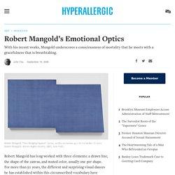 Robert Mangold's Emotional Optics