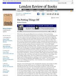 Robert Hanks · On Putting Things Off · LRB 10 September 2015