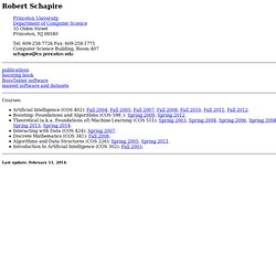 Robert Schapire's Home Page