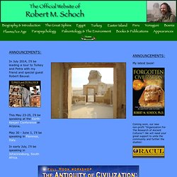Robert M. Schoch: The Official Website of