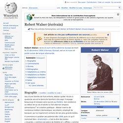 Robert Walser (écrivain)