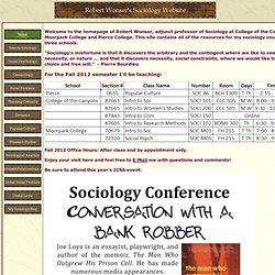 Robert Wonser's Sociology Page