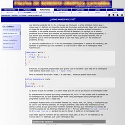 Roberto Oropeza G.: ¿using namespace std?
