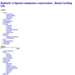 Roberts 3-Speed commuter conversion - Road Cycling UK