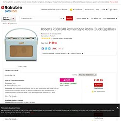 Buy Roberts RD60 DAB Revival Style Radio (Duck Egg Blue