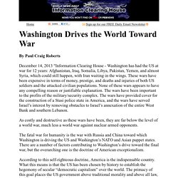 Paul Craig Roberts: Washington Drives the World Toward War