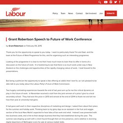 Grant Robertson Speech to Future of Work Conference - New Zealand Labour Party